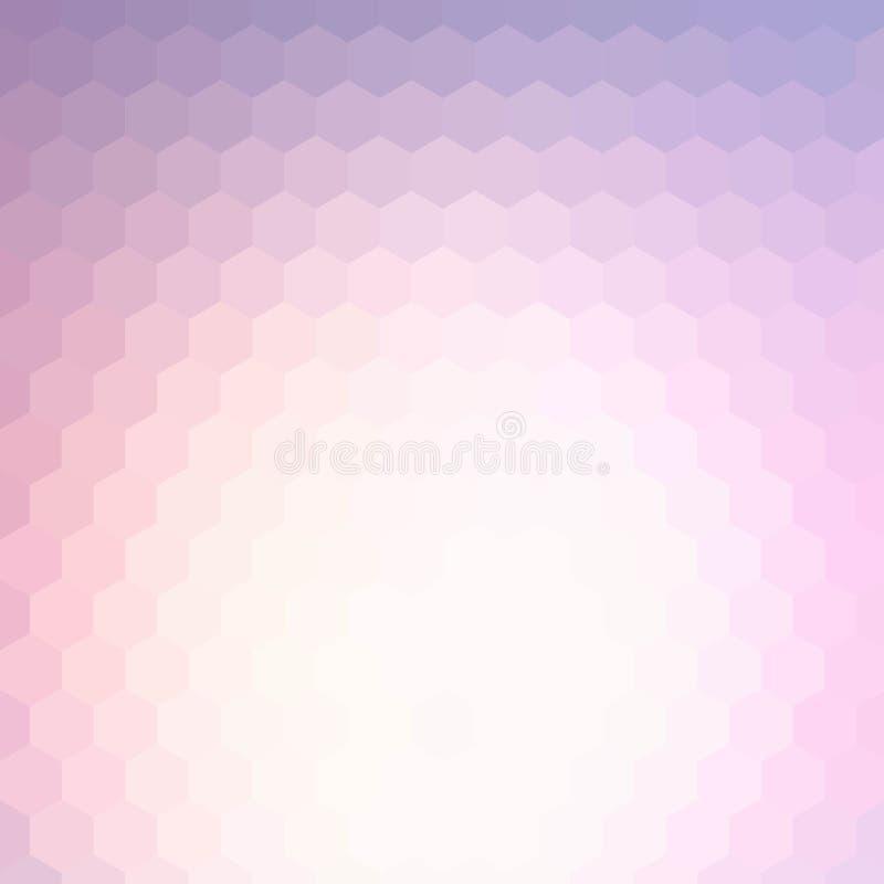 Абстрактная предпосылка нерезкости сделанная от шестиугольников с местом для вашего текста 10 eps иллюстрация вектора