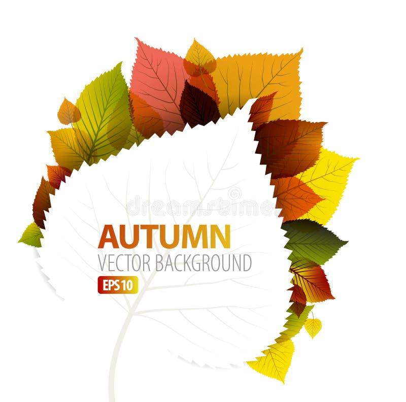 абстрактная предпосылка осени флористическая бесплатная иллюстрация