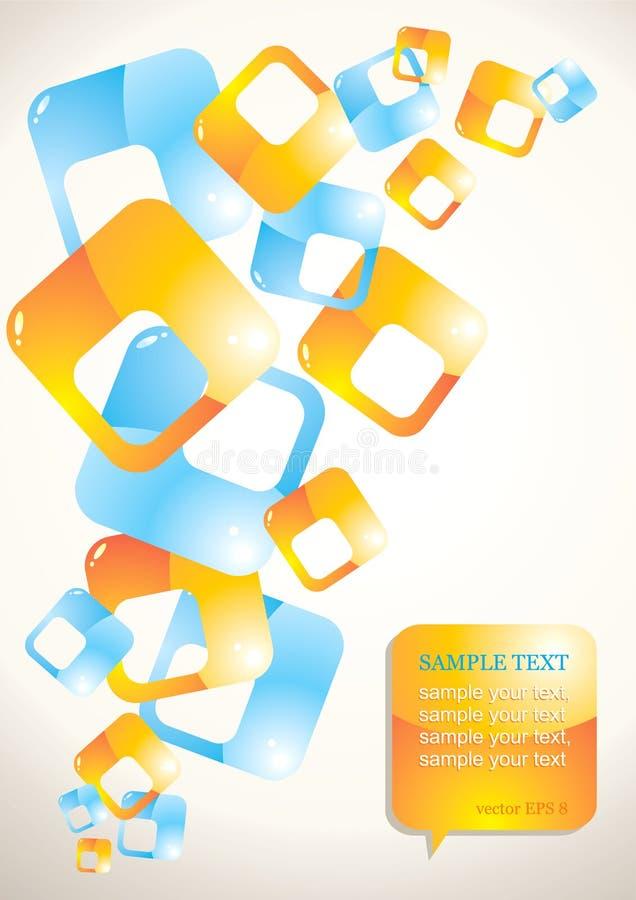 абстрактная предпосылка покрасила лоснистые квадраты бесплатная иллюстрация