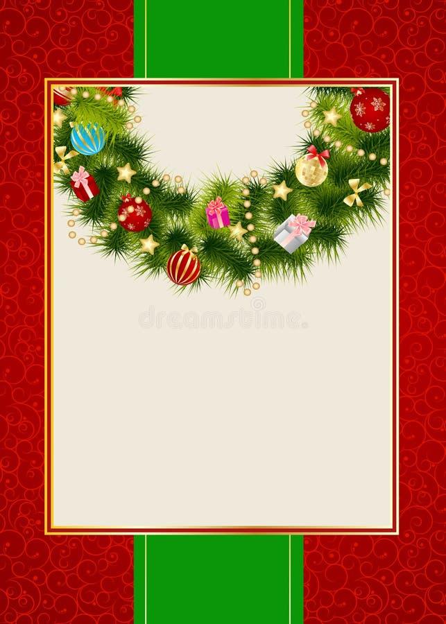 Абстрактная предпосылка приглашения рождества красотки. иллюстрация вектора