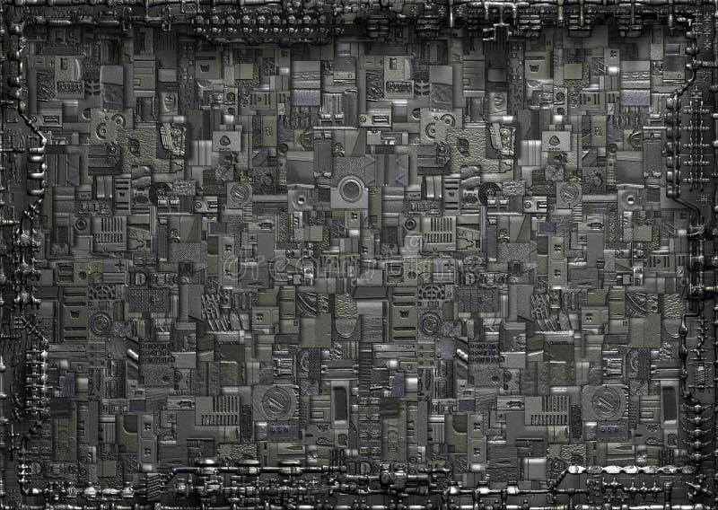 абстрактная предпосылка промышленная иллюстрация вектора