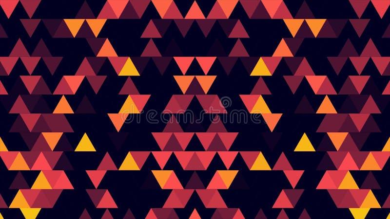 Абстрактная предпосылка 8-разрядных треугольников минимализма Абстрактные геометрические формы, абстрактная предпосылка от геомет иллюстрация вектора
