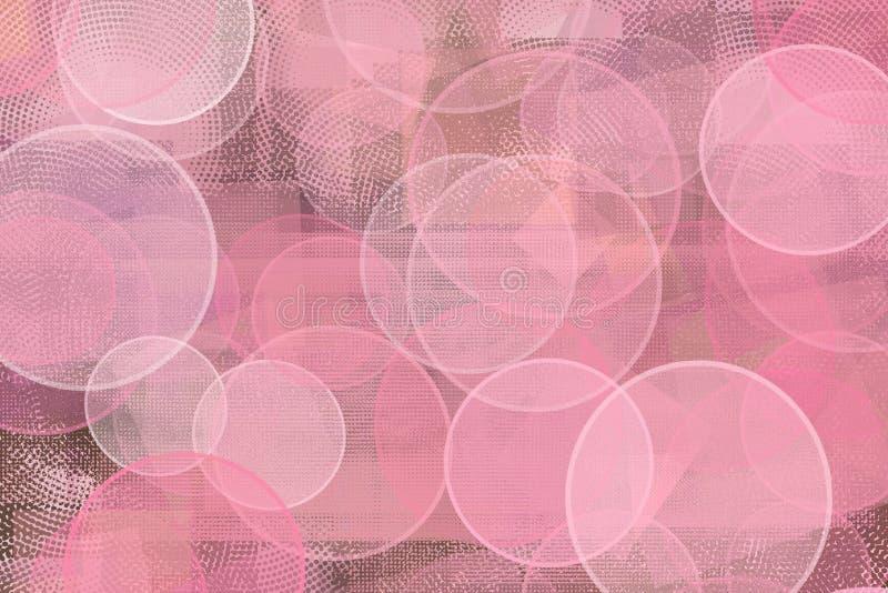 Абстрактная предпосылка розовых кругов иллюстрация штока