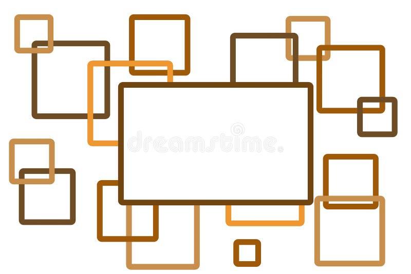 Абстрактная предпосылка сделанная от коричневых квадратов иллюстрация штока
