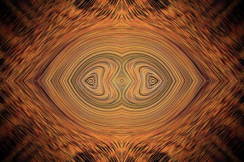 абстрактная предпосылка сердца совместно 2 коричневая деревянная линия волны стоковое фото rf