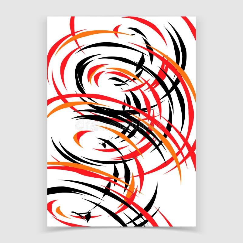 Абстрактная предпосылка со спиральными формами иллюстрация штока