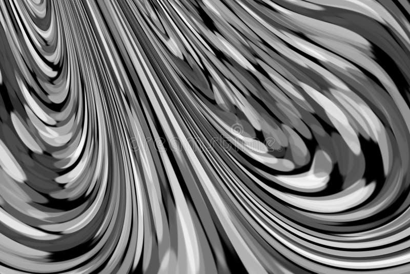 Абстрактная предпосылка сравнивая завихряясь линий бесплатная иллюстрация