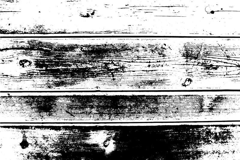 Абстрактная предпосылка, старая деревянная стена, горизонтальные широкие планки Vector деревянная текстура иллюстрация вектора