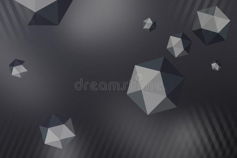 Абстрактная предпосылка сферы полигона с влиянием космоса и глубины бесплатная иллюстрация