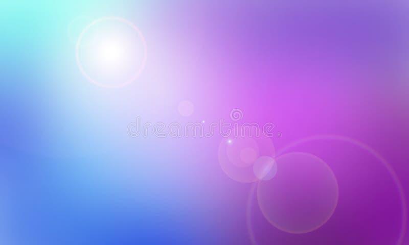 Абстрактная предпосылка с влиянием bokeh Голубая и пурпурная предпосылка бесплатная иллюстрация