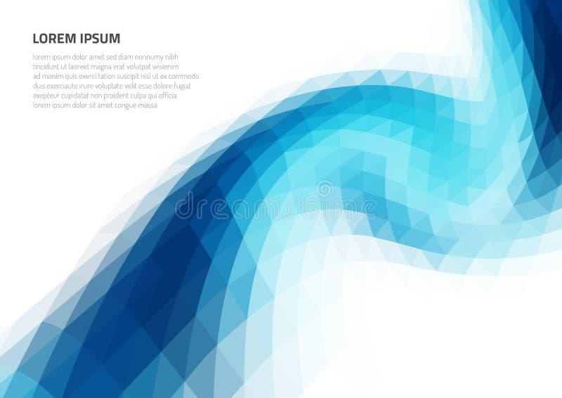 Абстрактная предпосылка с геометрической текстурой Искажение космоса Предпосылки для представлений и печатания бесплатная иллюстрация