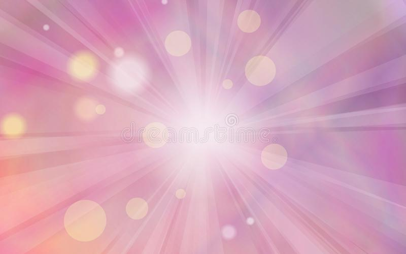 Абстрактная предпосылка с лучами и яркими блесками солнца на чудесном holo иллюстрация штока