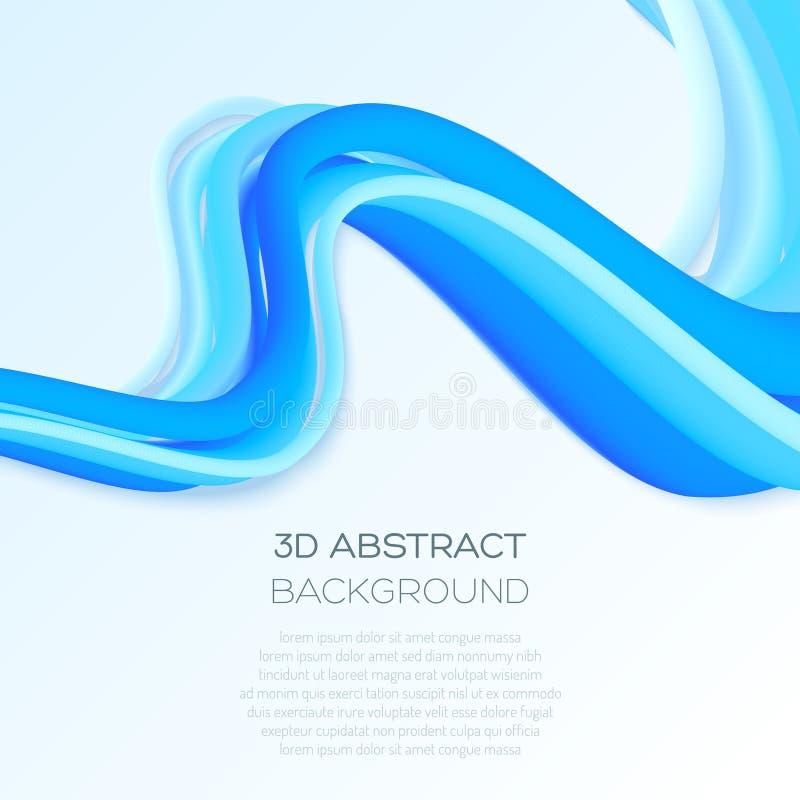 Абстрактная предпосылка с объемными формами Движение в космосе бесплатная иллюстрация