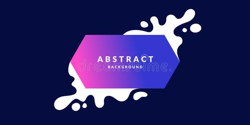 Абстрактная предпосылка с прямыми линиями, брызгает и геометрические объекты в minimalistic плоском стиле бесплатная иллюстрация