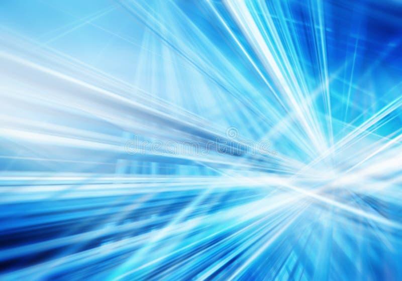 Абстрактная предпосылка с прямыми пересеченными светящими линиями сини и белых иллюстрация вектора