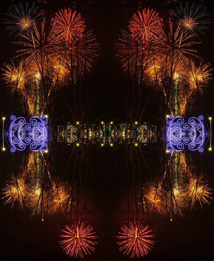Абстрактная предпосылка с фейерверками во время торжества Sao Хосе дня  стоковые изображения