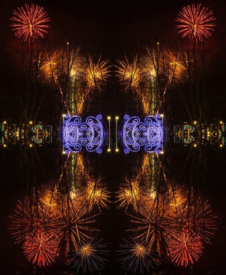 Абстрактная предпосылка с фейерверками во время торжества Sao Хосе дня  стоковая фотография rf