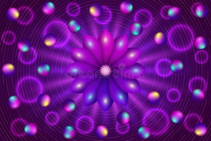 Абстрактная предпосылка с фиолетовым цветком стоковые изображения rf