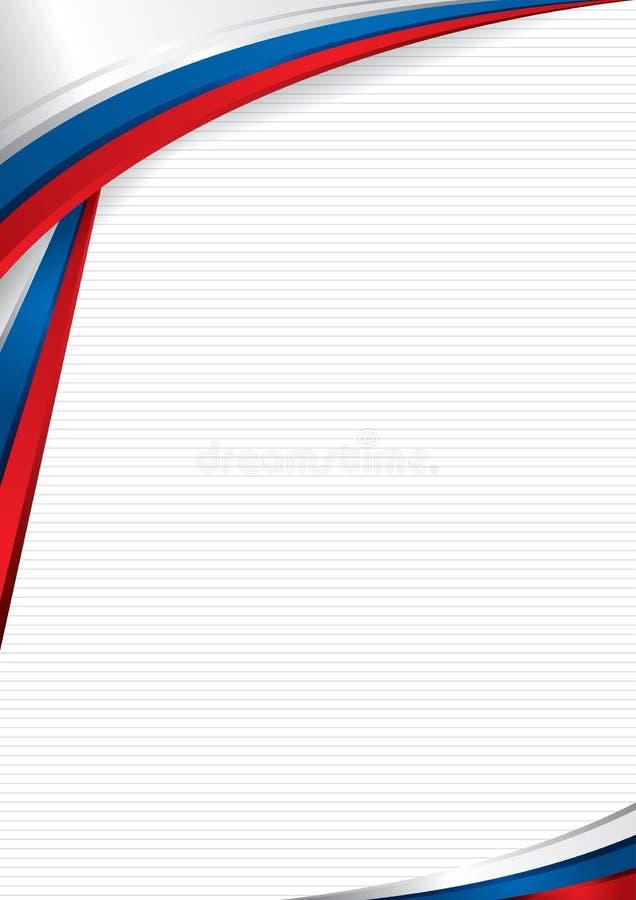 Абстрактная предпосылка с формами с цветами флага России, использовать как диплом или сертификат Формат A4 иллюстрация штока