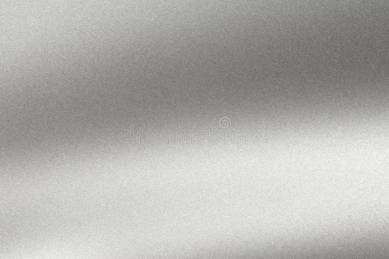 Абстрактная предпосылка текстуры, светлый светить на грубой серебряной стене металла иллюстрация штока
