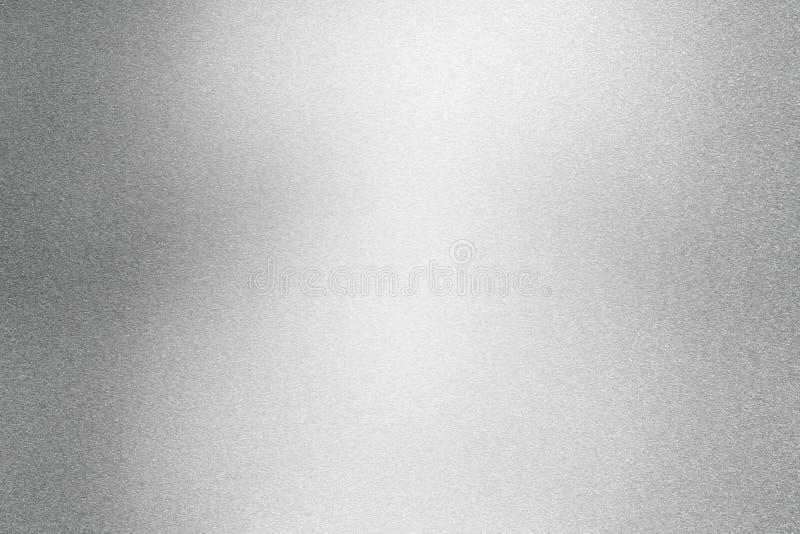 Абстрактная предпосылка текстуры, светлый светить на грубой серебряной стальной стене иллюстрация вектора