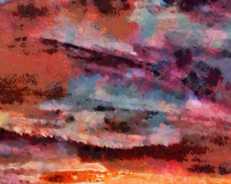 Абстрактная предпосылка текстуры grunge Искусство абстракции запаса на холсте Картина реалистической красоты цифровая Изумляя про иллюстрация вектора