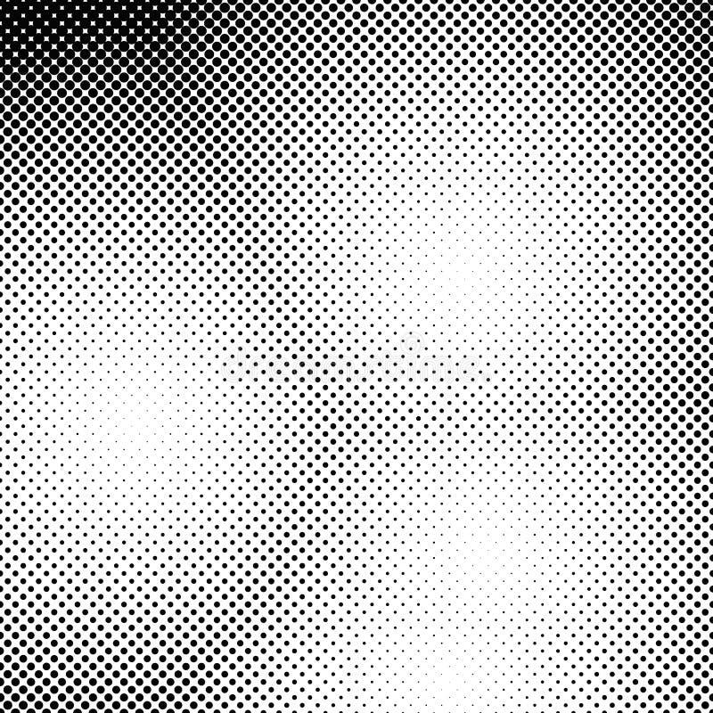 Абстрактная предпосылка точечного растра полутонового изображения - vector дизайн от кругов бесплатная иллюстрация
