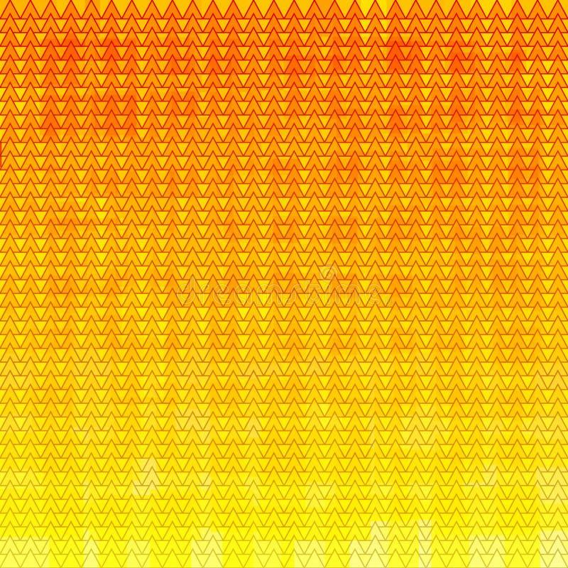 Абстрактная предпосылка треугольника мозаики с покрашенным квадратом Оранжевый фон решетки самомоднейшие обои также вектор иллюст бесплатная иллюстрация