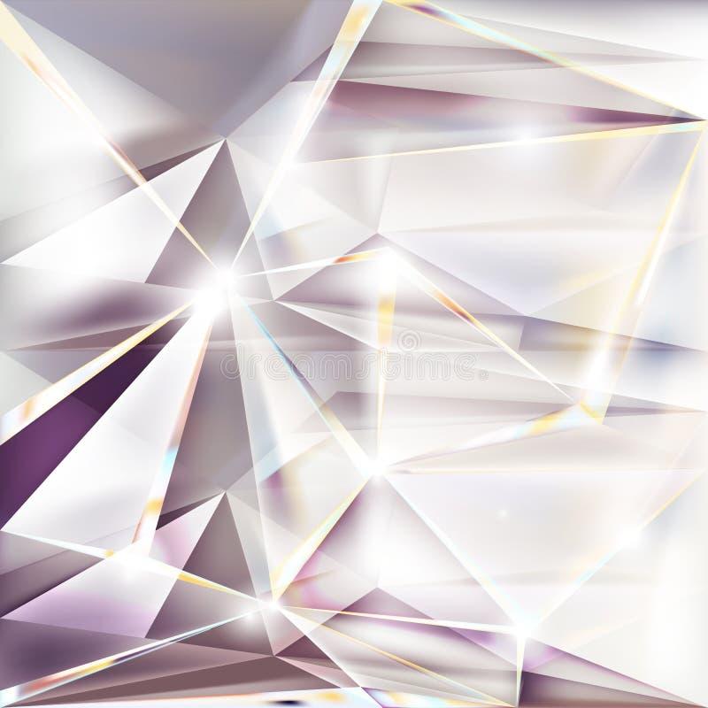 Абстрактная предпосылка треугольников Низкий поли состав Творческая геометрическая иллюстрация стоковая фотография