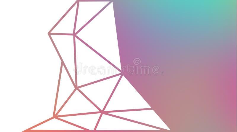 Абстрактная предпосылка треугольников иллюстрация вектора