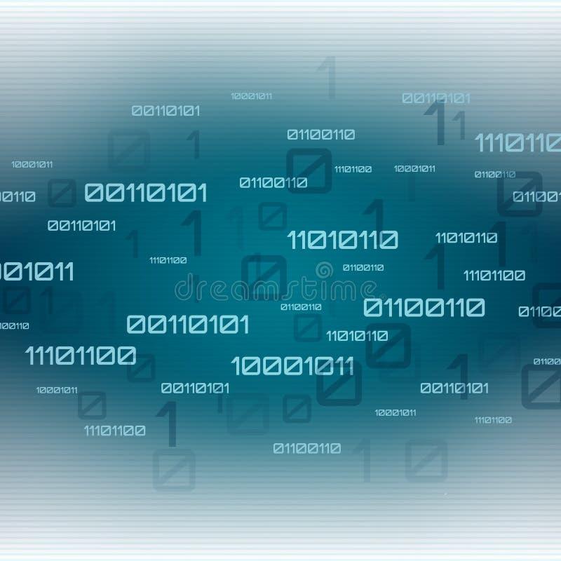 абстрактная предпосылка футуристическая Код цифровой технологии бинарный бесплатная иллюстрация