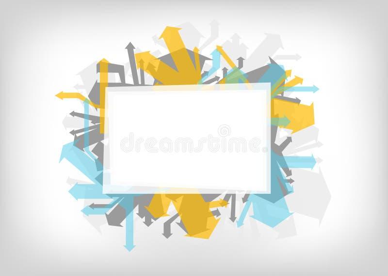 Абстрактная предпосылка цвета - граффити вводят стрелки и космос в моду экземпляра иллюстрация вектора