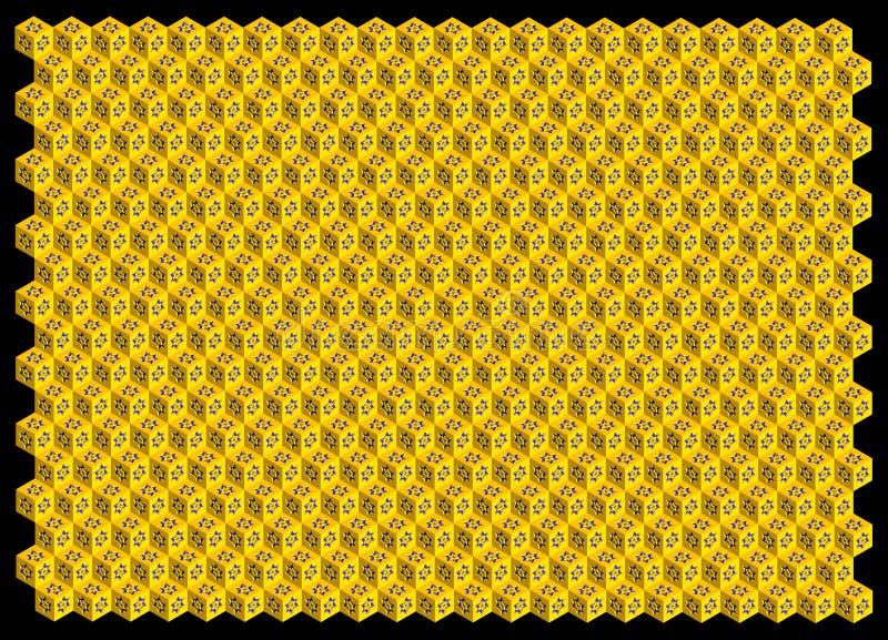 Абстрактная предпосылка шестиугольников 3D стоковая фотография rf
