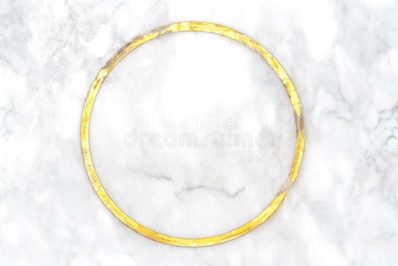 Абстрактная предпосылка элегантности от естественного белого мрамора с золотом стоковые изображения rf