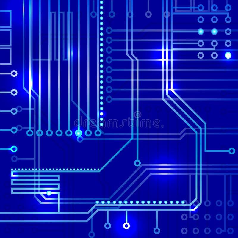 Абстрактная предпосылка электроники иллюстрация вектора