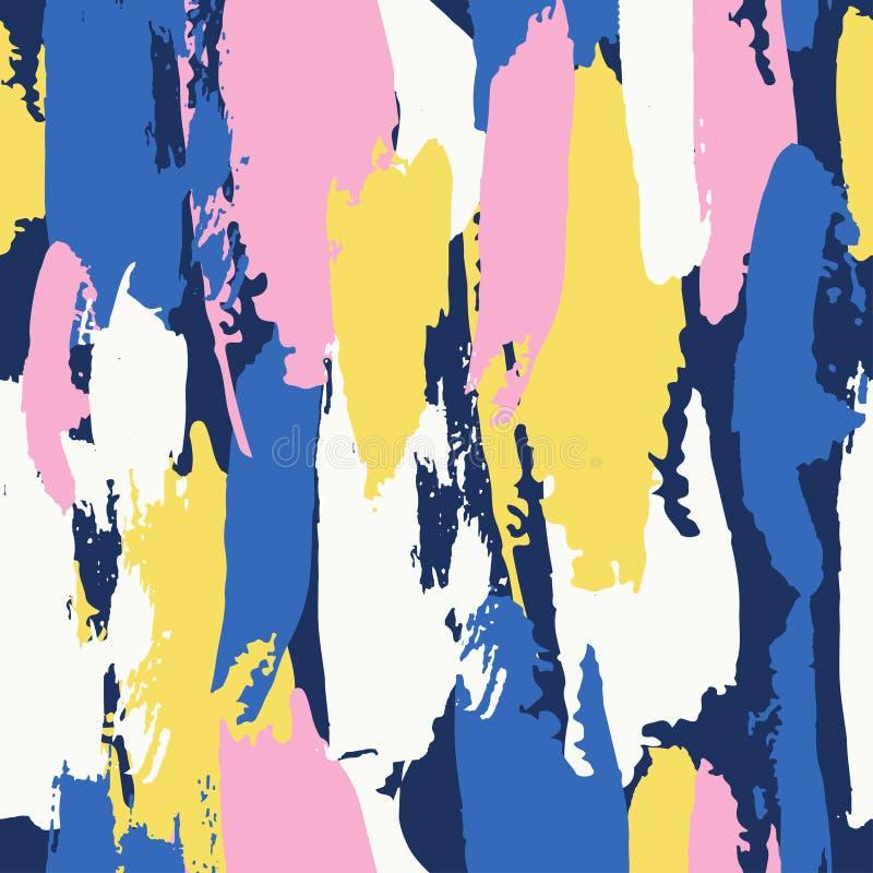 Абстрактная предпосылка brushstroke, красочная скороговорка иллюстрация штока