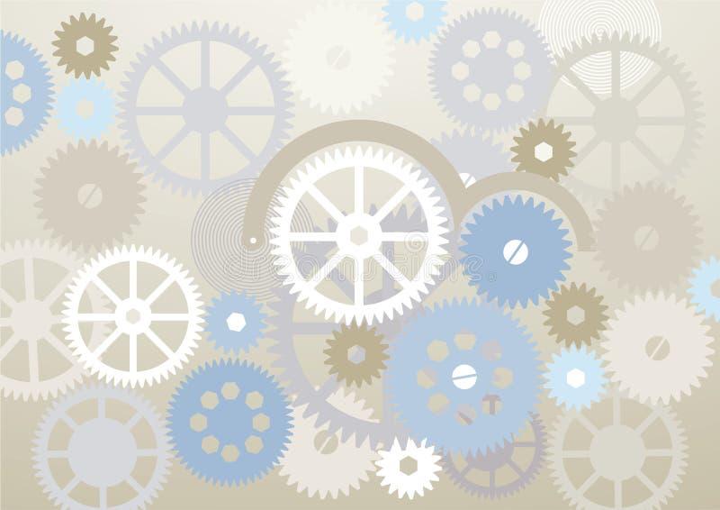 Абстрактная предпосылка cogs шестерни иллюстрация вектора