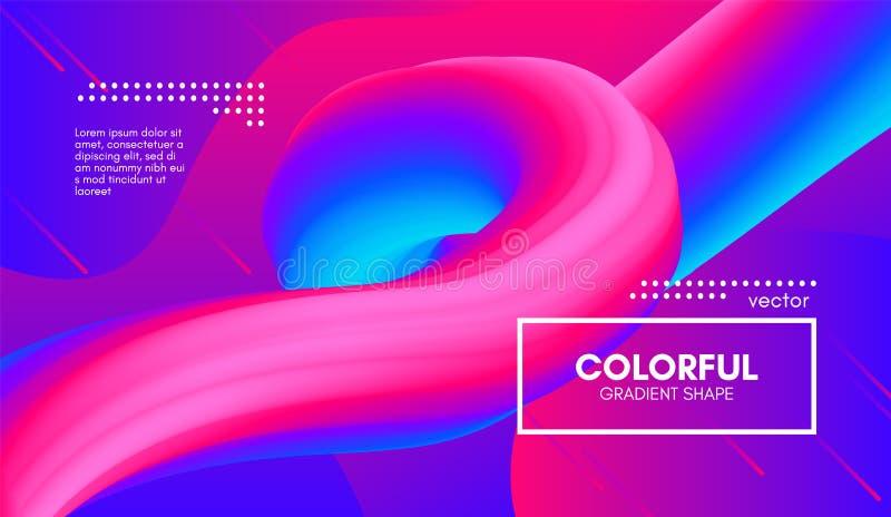 абстрактная предпосылка 3d Красочная форма жидкости волны бесплатная иллюстрация