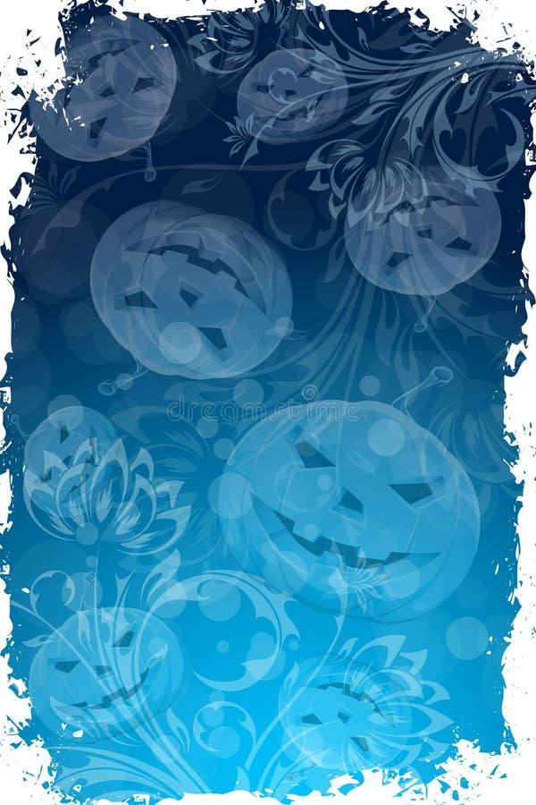 Абстрактная предпосылка Halloween с цветками иллюстрация штока