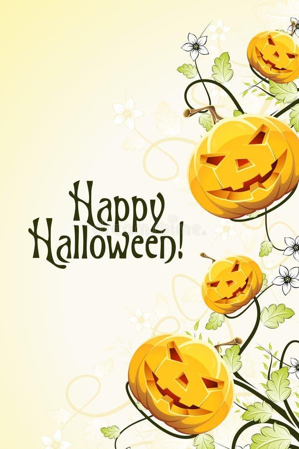 Абстрактная предпосылка Halloween с цветками иллюстрация вектора