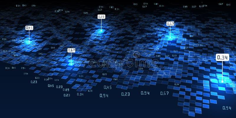 Абстрактная предпосылка infographics 3D Большие данные Футуристическое concep иллюстрация штока