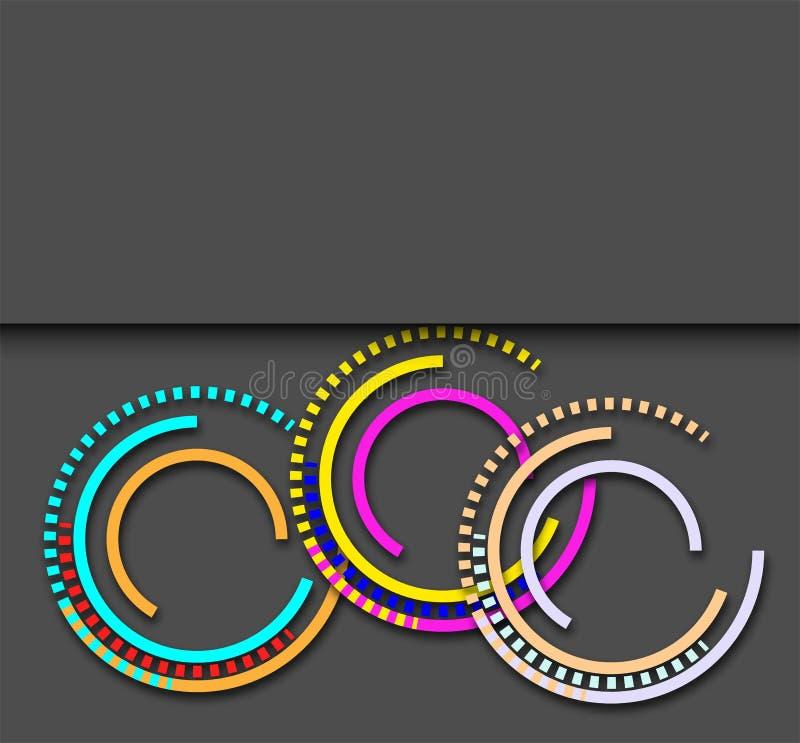 Абстрактная предпосылка techno с кругом иллюстрация вектора