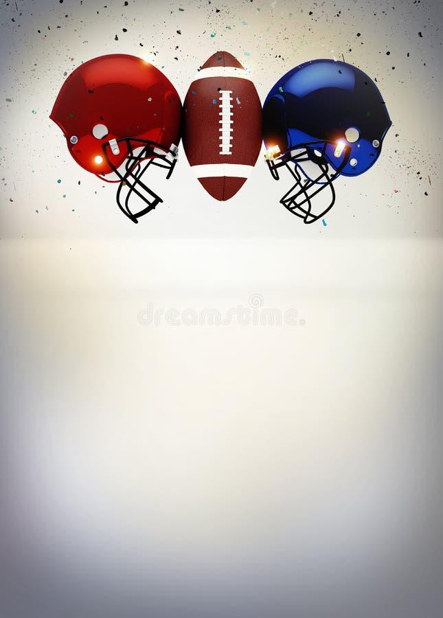 Абстрактная предпосылка американского футбола стоковое изображение