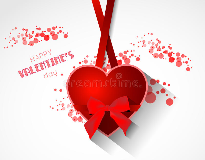Абстрактная предпосылка валентинки с сердцем иллюстрация вектора