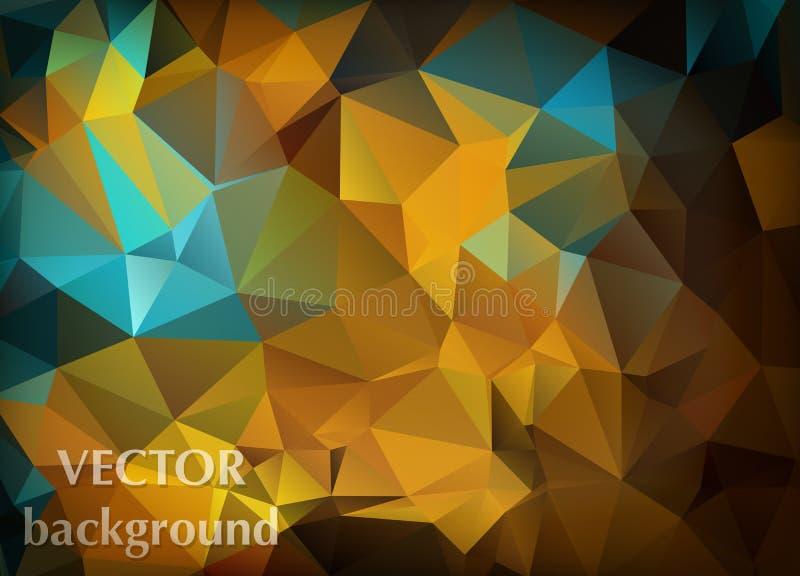 Абстрактная предпосылка вектора обоев полигона треугольников Сеть d бесплатная иллюстрация