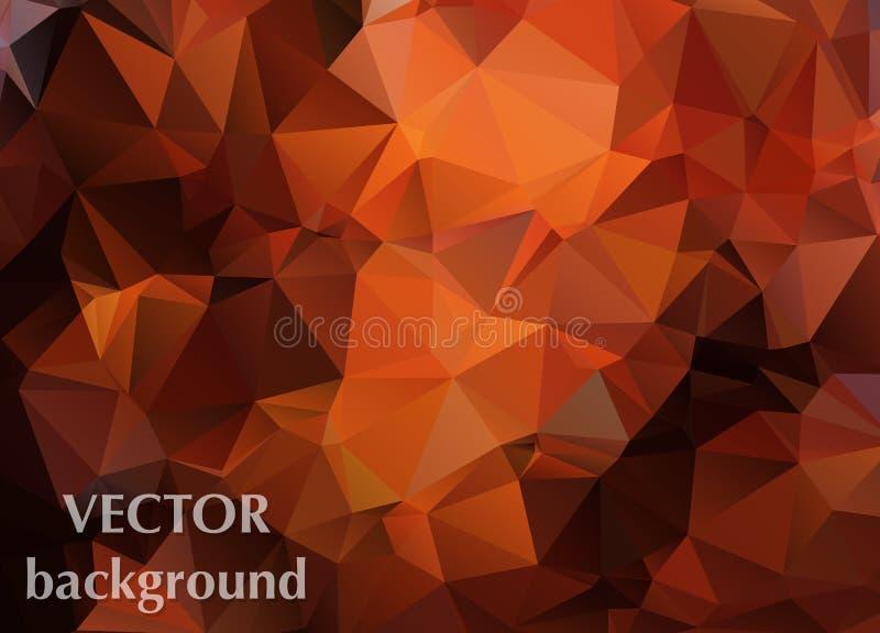 Абстрактная предпосылка вектора обоев полигона треугольников Сеть d иллюстрация вектора