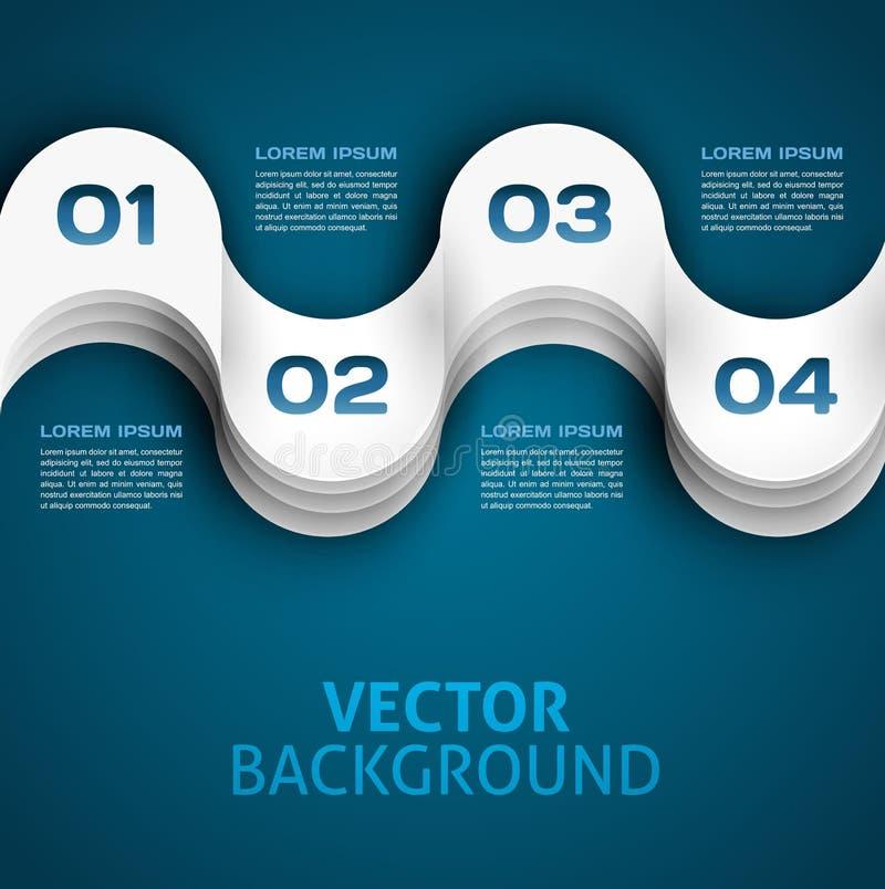 Абстрактная предпосылка вектора infographics бумаги 3d иллюстрация вектора