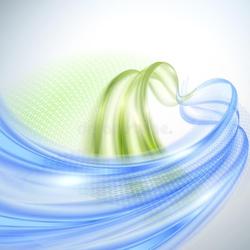 Абстрактная предпосылка волны иллюстрация штока