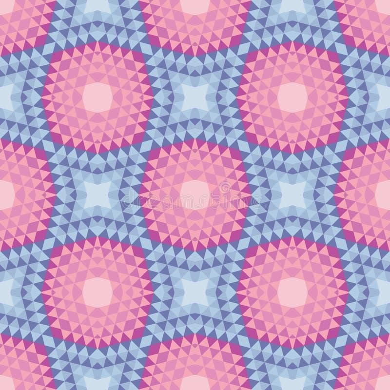Абстрактная предпосылка - геометрическая безшовная картина вектора иллюстрация штока
