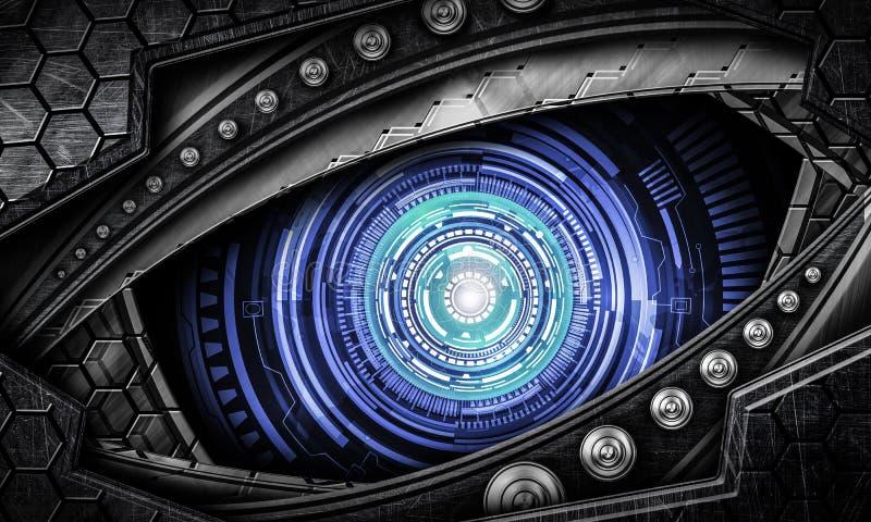 Абстрактная предпосылка глаза робота стоковые изображения rf
